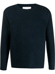 Laneus Crew Neck Knit Sweater Blue