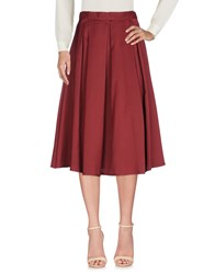 Cutie 3 4 Length Skirts Maroon