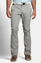 Men's Big And Tall Bonobos Slim Fit Washed Cotton Chinos Grey Dogs