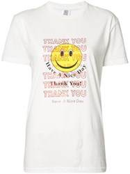 Rosie Assoulin 'Thank You Smiley Face' T Shirt White
