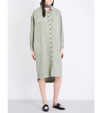 The Great Troop Cotton Shirt Dress Vintage Army