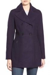 Michael Michael Kors Wool Blend Peacoat Purple