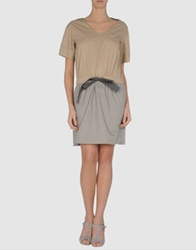 Hoss Intropia Short Dresses Light Brown