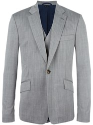 Vivienne Westwood Man Flap Pockets Blazer Grey