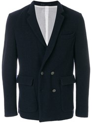 Mauro Grifoni Double Breasted Blazer Blue