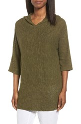 Eileen Fisher Women's Organic Linen And Cotton Hooded Sweater