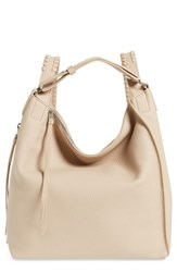Allsaints Small Kita Convertible Leather Backpack Beige Natural