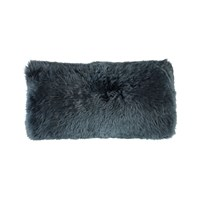 Amara New Zealand Sheepskin Cushion 28X56cm Navy
