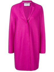 Harris Wharf London Fitted Single Breasted Coat Pink