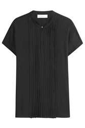 Max Mara Silk Blouse With Pleats Black