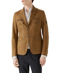 Gucci Tan Washed Army Jacket