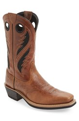 Ariat Men's Heritage Roughstock Venttek Cowboy Boot Gingersnap