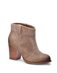 Splendid Lakota Suede Ankle Slip On Boots Latte