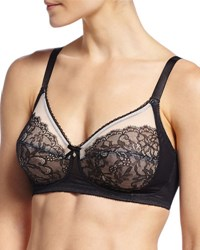 Wacoal Retro Chic Wire Free Soft Cup Bra Black