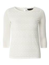 Dorothy Perkins Frill Lace Front Top White