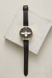 Anthropologie Moulded Bee Watch Black