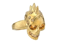 Alexander Mcqueen Small Version Punk Skull Ring Small