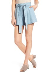 The Fifth Label Women's Blue Eyes Chambray Shorts Light Washed Denim