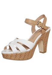 Chocolate Schubar Bo Platform Sandals White