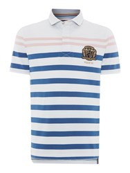 Howick Men's Weston Stripe Short Sleeve Rugby White