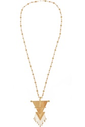 Paula Mendoza Hanging Triangle Gold Plated Necklace