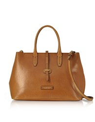 The Bridge Large Leather Tote Bag W Shoulder Strap Cognac