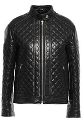 Red Valentino Redvalentino Woman Quilted Leather Jacket Black