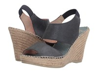 Andre Assous Reese Navy Metallic Brushed Suede Women's Sandals