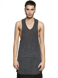 Tom Rebl Ribbed Long Viscose Jersey Tank Top Grey