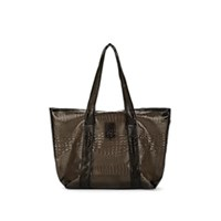 Sies Marjan Vada Crocodile Stamped Tote Bag Black