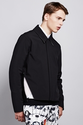 Opening Ceremony Court Bonded Boxy Fit Baja Zipper Jacket Black