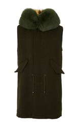 Mr And Mrs Italy Regimental Long Waistcoat Green