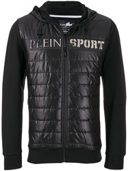 Plein Sport Padded Quilted Jacket Black