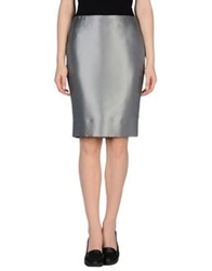 John Richmond Knee Length Skirts Grey