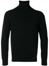 Cruciani Roll Neck Fitted Sweater Black