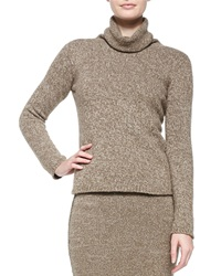 Ralph Lauren Collection Heathered Cashmere Turtleneck Sweater