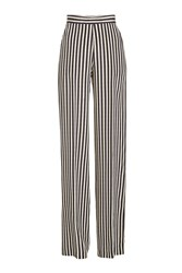 Etro Striped High Waisted Wide Leg Silk Pants
