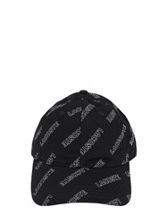 Lacoste All Over Logo Cotton Baseball Hat Black