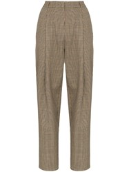 Magda Butrym Totness Heritage Check Trousers Neutrals