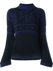 Sacai Luck Bell Sleeve Winter Print Sweater