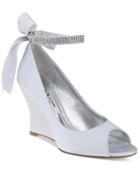 Nina Emma Evening Wedges Women's Shoes Royal Silver
