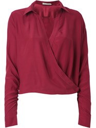 Martha Medeiros Wrap Andrea Shirt Red
