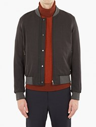 Wooyoungmi Grey And Burgundy Reversible Bomber Jacket Green