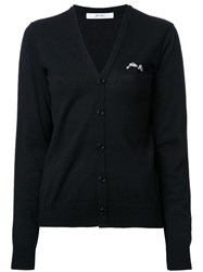 Julien David V Neck Cardigan Black