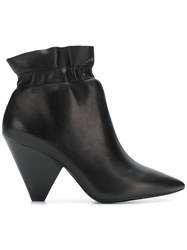 Ash Elasticated Ankle Boots Black