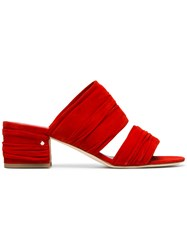 Laurence Dacade Red Suede Roger 60 Mules