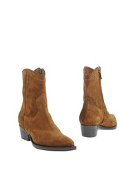 Luca Valentini Ankle Boots Camel