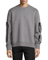 Public School Neoprene Pocket Sweatshirt Gray