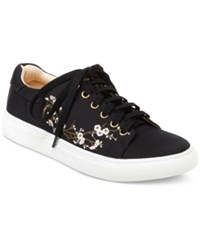 Nanette Lepore By Winona Blossom Lace Up Sneakers Women's Shoes Black