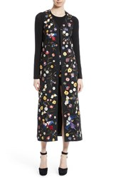 Alice Olivia Women's Angelica Embroidered Long Vest